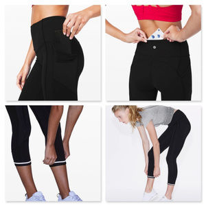 """Lululemon All The Right Places Crop II 23"""" Size 10"""